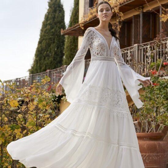 Herve Paris - Adelynn Brautkleid Voderansicht 1