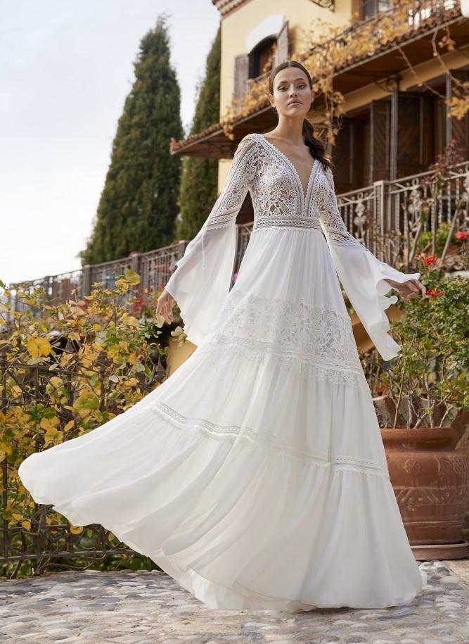 Herve Paris - Adelynn Brautkleid Voderansicht 2