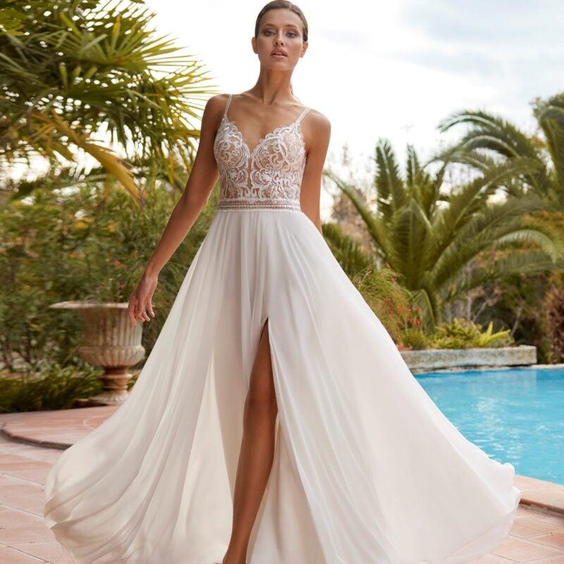 Herve Paris - Ainhoa Brautkleid Vorderansicht 1