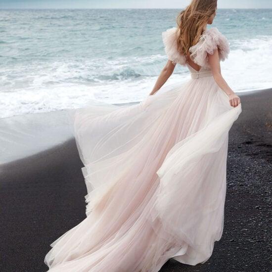 Nicole Milano - Anghel Brautkleid Rückansicht 1