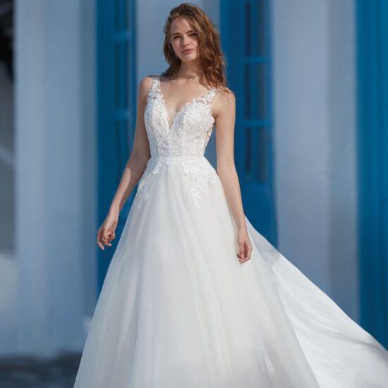 Nicole Milano - Caver Brautkleid Vorderansicht 1