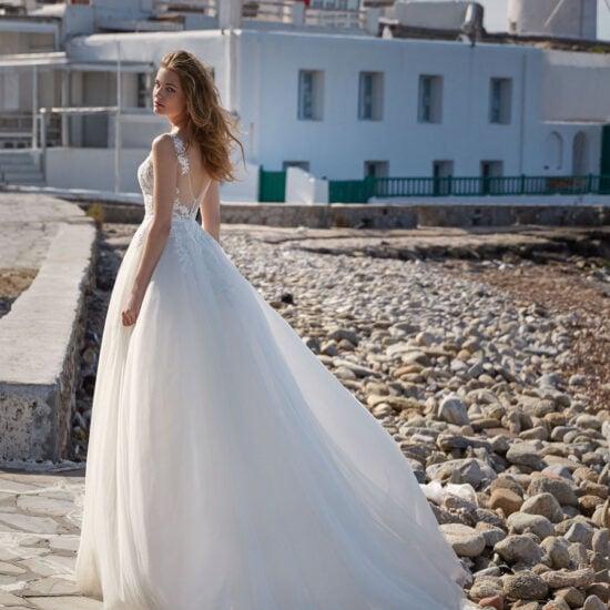 Nicole Milano - Caver Brautkleid Rückansicht 1