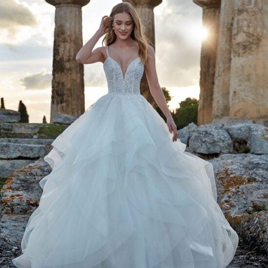 Nicole Milano - Damkina Brautkleid Vorderansicht 1