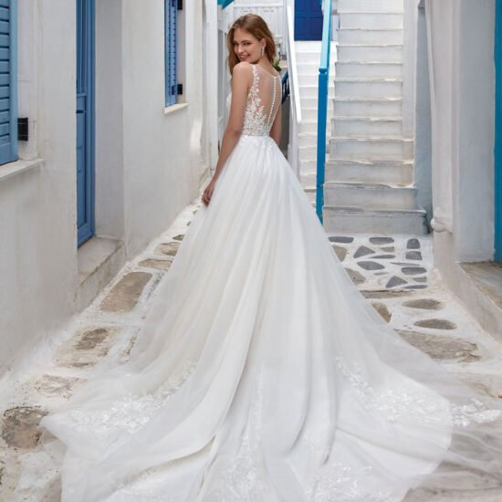 Nicole Milano - Mistral Brautkleid Rückansicht 1
