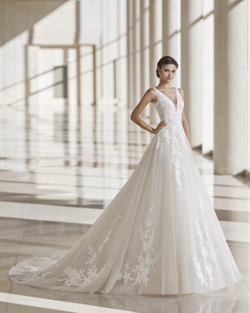 Rosa Clará - Nety Brautkleid Vorderansicht 3