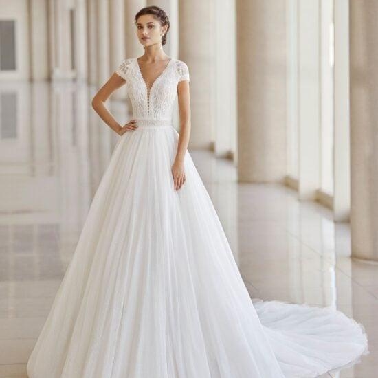 Rosa Clará - Nimat Brautkleid Vorderansicht 1
