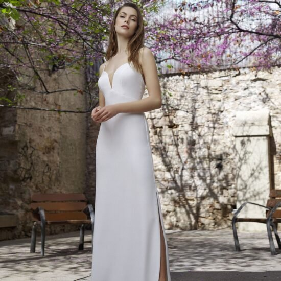 White One - Maitea Brautkleid Vorderansicht 1