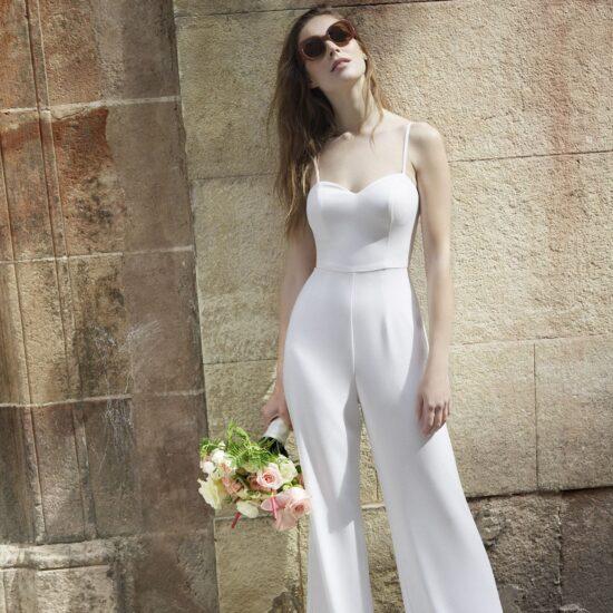 White One - Mila Brautjumpsuit Vorderansicht 1