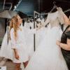 Brautkleid-Anprobe