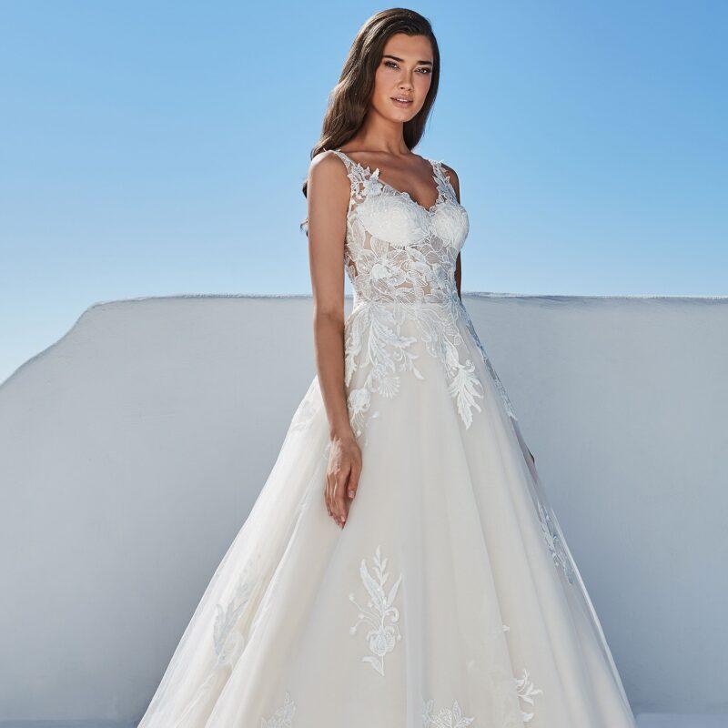 Justin Alexander - 88196 Brautkleid Vorderansicht 1