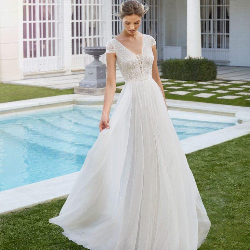 Rosa Clará - Cosme Brautkleid Vorderansicht 2