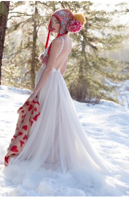 Watters Willowby - Daylily Brautkleid Rückansicht 1