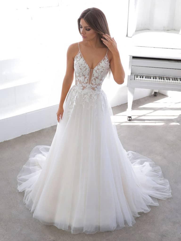 Enzoani - Normandie Brautkleid Vorderansicht 1