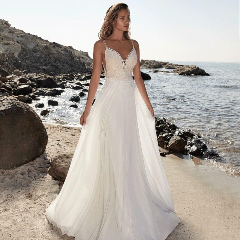 Herve Paris - Tricot Brautkleid Vorderansicht 4