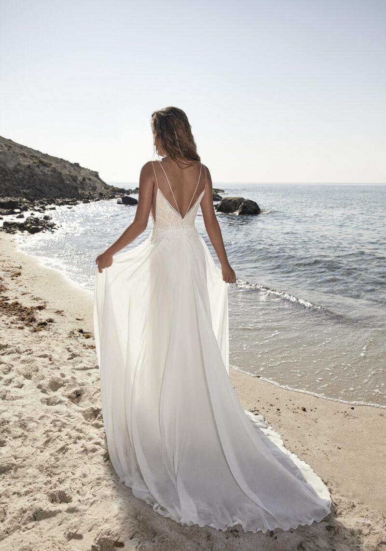 Herve Paris - Tricot Brautkleid Rückansicht 2