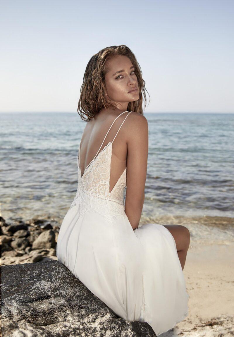 Herve Paris - Tricot Brautkleid Rückansicht 1