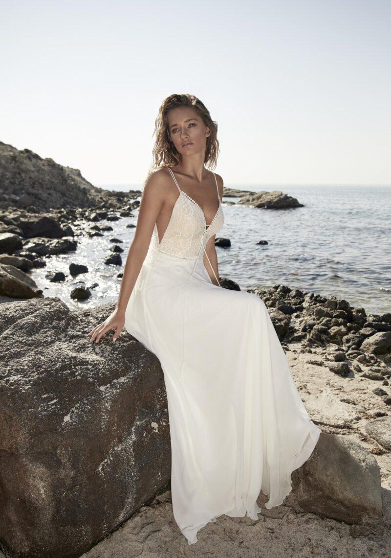 Herve Paris - Tricot Brautkleid Vorderansicht 1