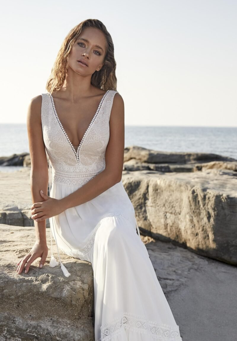 Herve Paris - Tuchan Brautkleid Vorderansicht 2