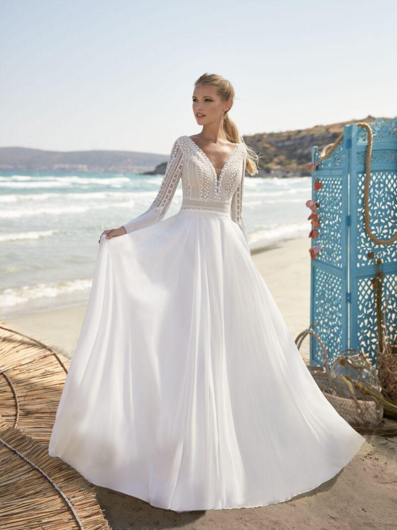 Herve Paris -Valreas Brautkleid Vorderansicht 3