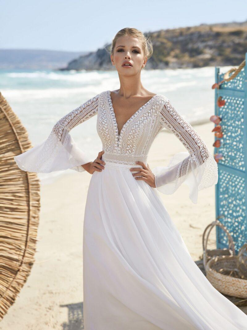 Herve Paris -Valreas Brautkleid Vorderansicht 2