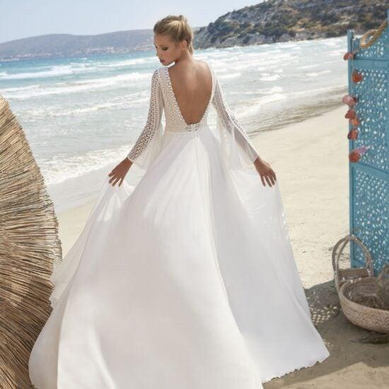 Herve Paris -Valreas Brautkleid Rückansicht 1