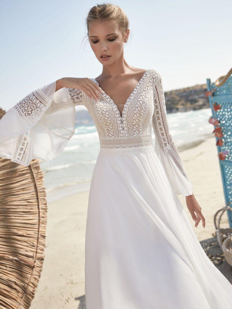 Herve Paris -Valreas Brautkleid Vorderansicht 1