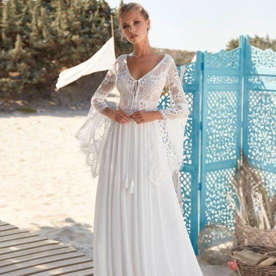 Herve Paris - Vias Brautkleid Vorderansicht 1