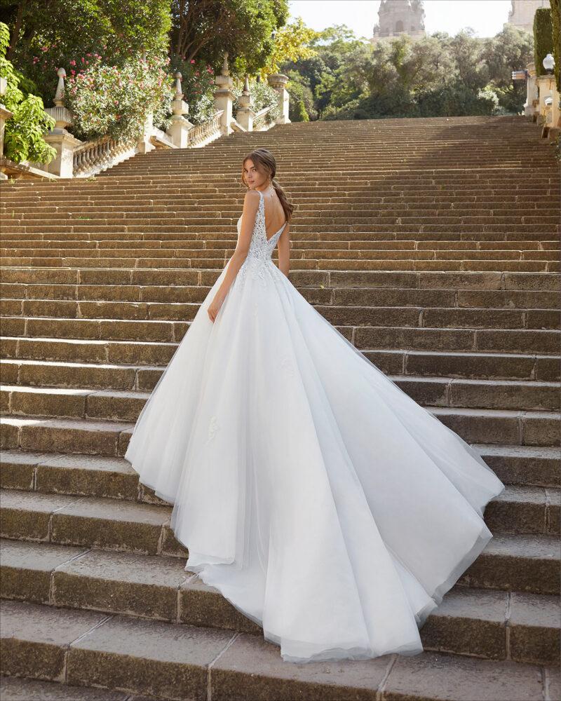Luna Novias - Yesire Brautkleid Rückansicht 1