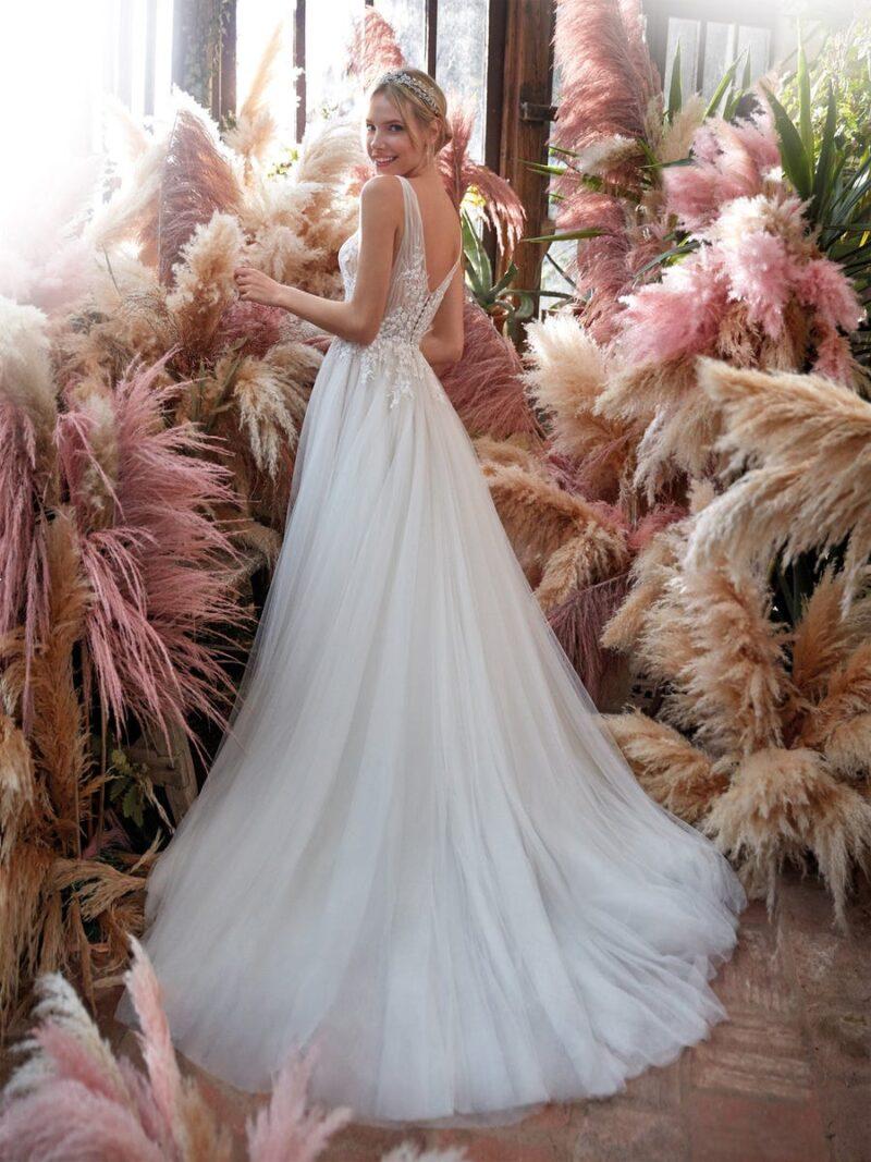 Nicole Milano - CO12184 Brautkleid Rückansicht 1