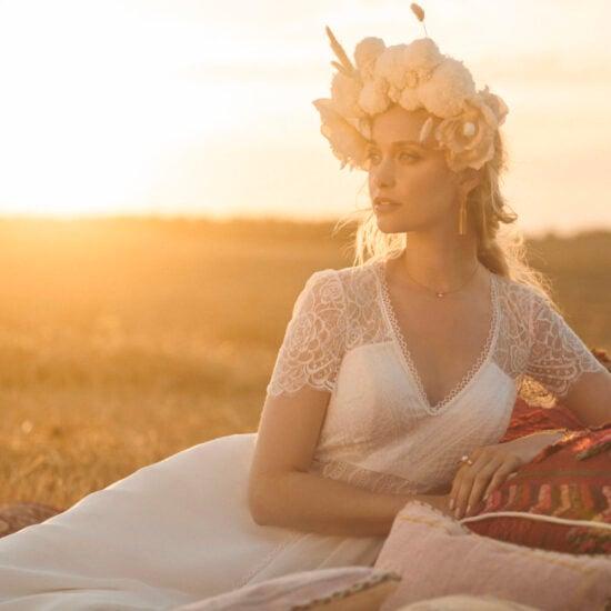Rembo Styling - Lila Grace Brautkleid Vorderansicht 1