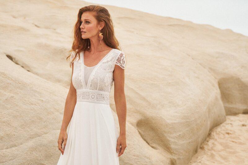 Rembo Styling - Anselme Brautkleid Vorderansicht 1