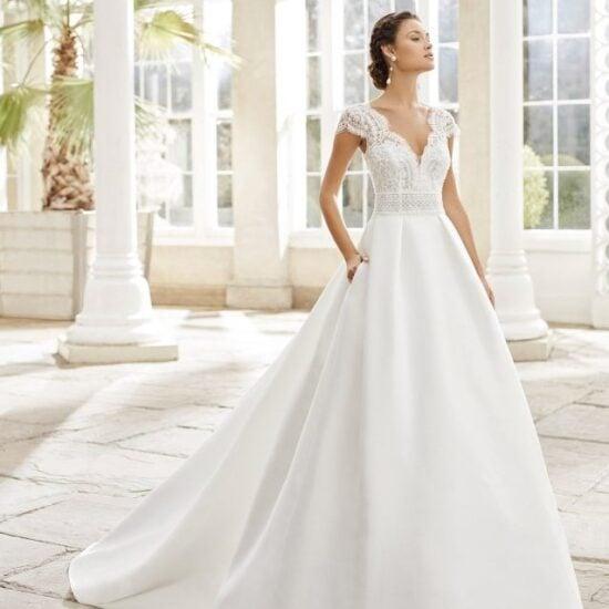 Rosa Clará - Torino Brautkleid Vorderansicht 3