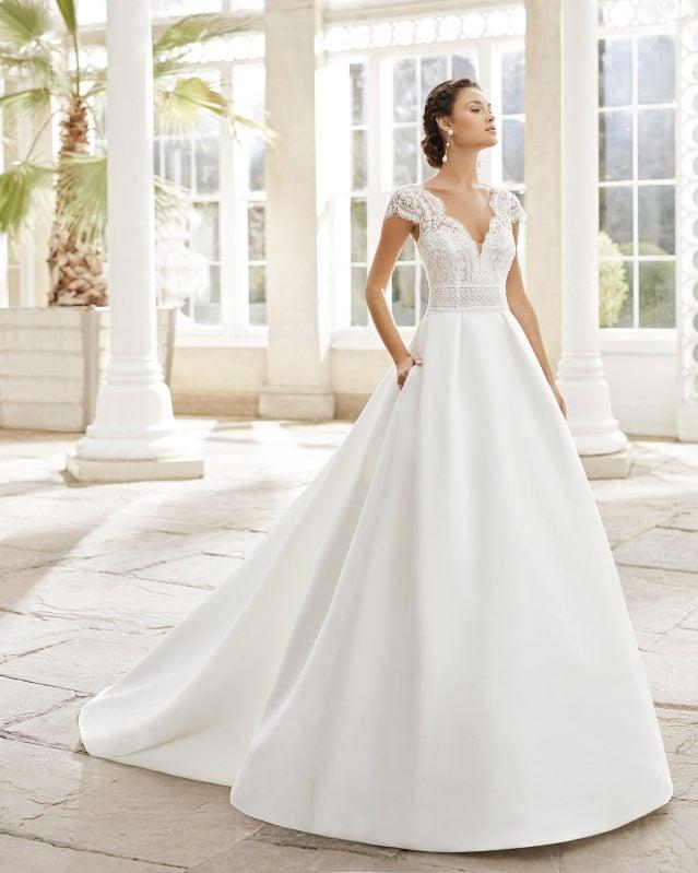 Rosa Clará - Torino Brautkleid Vorderansicht 2