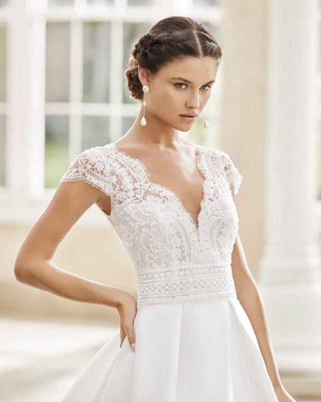 Rosa Clará - Torino Brautkleid Vorderansicht 1