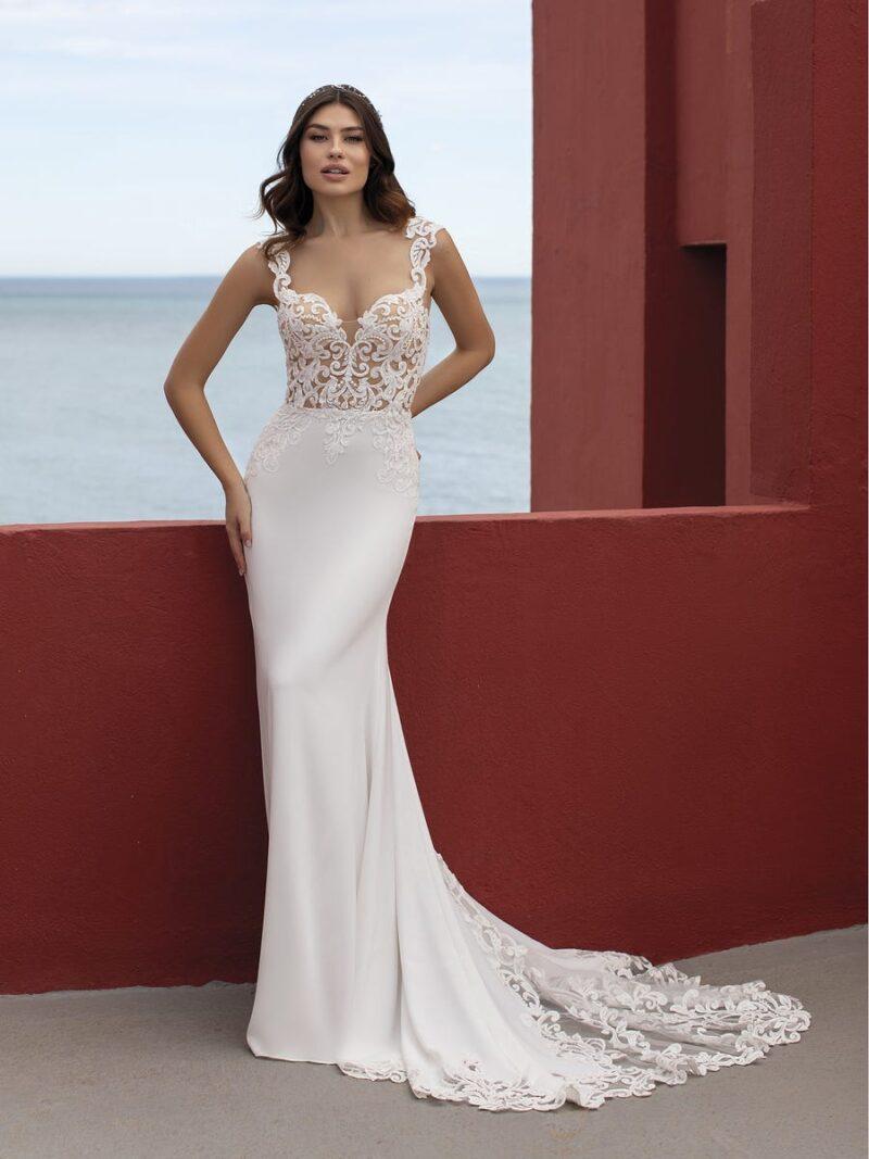 White One - Lava Brautkleid Vorderansicht 1