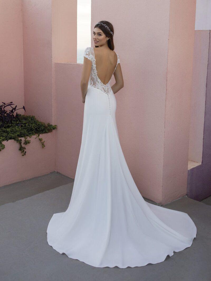 White One - Obre Brautkleid Rückansicht 1