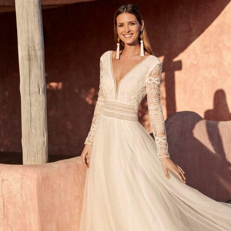 Marylise - Donnatienne Brautkleid Vorderansicht 3