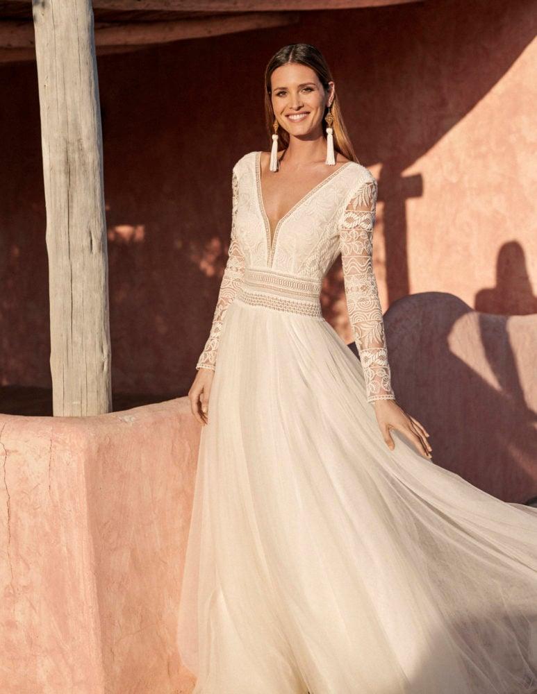 Marylise - Donnatienne Brautkleid Vorderansicht 2
