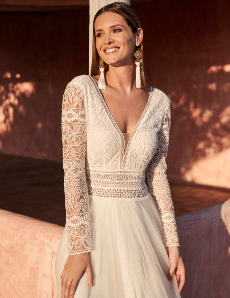 Marylise - Donnatienne Brautkleid Vorderansicht 1