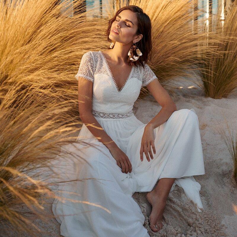 Marylise - Blue Velvet Brautkleid Vorderansicht 4