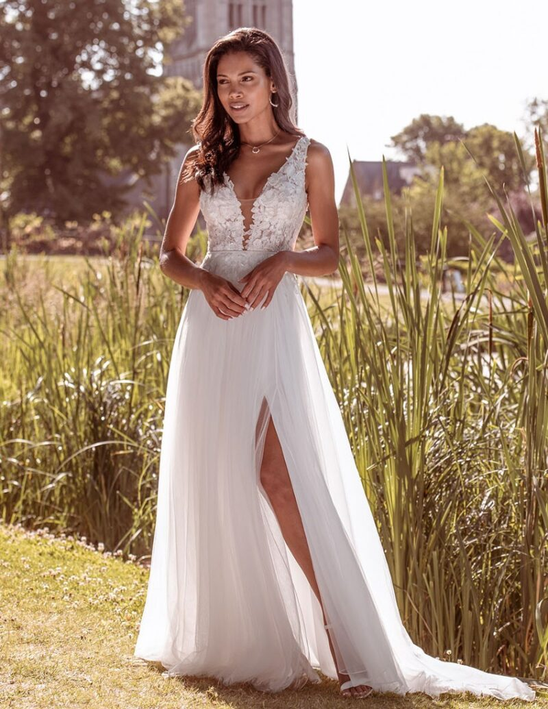 Kelsey Rose - Dahlia Brautkleid Vorderansicht 1
